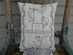 Decorative Winter/Christmas Pillow Sam the by valleyprimitives