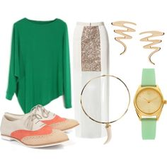 Lady, created by rebeccaalonzo on Polyvore