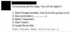 Some advise on how to use Google translate!