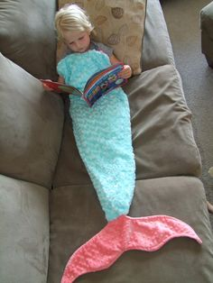 Mermaid Tail Sleep Sack MINKY Ships out in by tarascozycreations