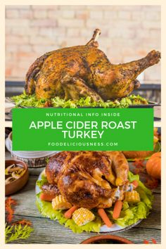 Looking for some  Apple Cider Roast Turkey, Thanksgiving Recipes, Thanksgiving turkey recipes ? I've got a collection here of the best Thanksgiving Main Dishes: Apple Cider Roast Turkey - #AppleCiderRoastTurkey, #ThanksgivingRecipes, #ThanksgivingTurkeyRecipes  @foodeliciousness Thanksgiving Main Dishes, Thanksgiving Recipes, Thanksgiving Turkey, Perfect Roast Turkey, Side Dishes For Chicken, Leftover Turkey Recipes, Cooking Turkey, Roasted Turkey, Apple Cider