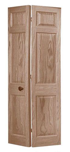 6 Pnl Primed Woodgrain Colonist 2 Leaf Bi Fold Door 36