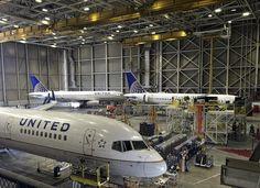 United Airlines maintenance hangar at San Francisco International Airport, 2015