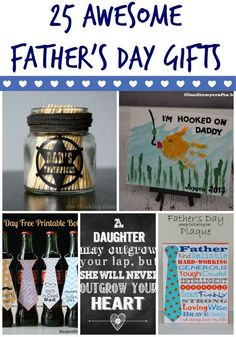 Father's Day gifts that are unique and DIY!: