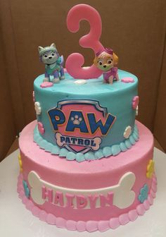 Calumet Bakery Girls Paw Patrol Cake