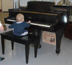 Steinway & Sons baby grand piano ebonized -  Realized Price: $5,750.00