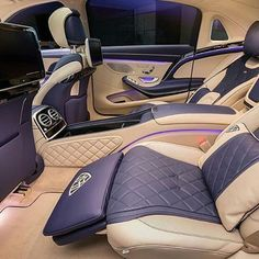 Need a rest in this #beauty #Maybach First-Class ⚜️ #luxurycar #luxurylifestyle #luxurylife #luxurycars #maybach #s600