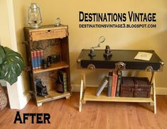 upcycled trunk into bookcase, diy, painted furniture, repurposing upcycling, woodworking projects Upcycled Furniture, Furniture Projects, Home Projects, Painted Furniture, Diy Furniture, Furniture Makeover, Weekend Projects, Old Trunks, Vintage Trunks