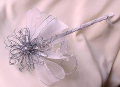 Bridal Flower girl Wand Bling Fairy Princess by AmoreBride Cinderella Costume, Cinderella Wedding, Princess Wedding, Princess Birthday, Flower Girl Wand, Flower Girls, Bling Wedding, Wedding Wands, Wedding Stuff