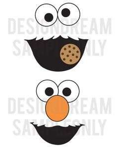Sesame Street Elmo Cookie Monster Grouch Balloon Face Embellishments