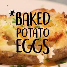 Baked Potato Eggs