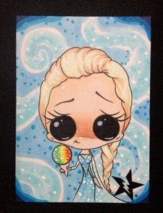 """""""Sugar Fueled Elsa The Snow Queen Frozen ACEO"""" (by Sugar Fueled)"""