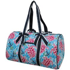 59e8a25796 NGIL Turtle and Me Quilted Large Duffle Bag-Nav