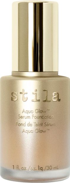 Stila Cosmetics Aqua Glow Serum Foundation. Stila's Aqua Glow Serum Foundation has a wonderfully silky consistency blending imperceptibly so you look naturally blessed with enviable, 'airbrushed' skin. Available in a spectrum of shades to complement all skin tones,  #Foundation #Cult Beauty #Women #fashion #obsessory #fashion #lifestyle #style #myobsession #Stila #makeup #beautiful #beauty #luxury #skincare