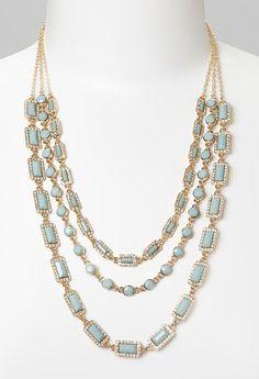 Mint & Gold Multi-Strand Necklace