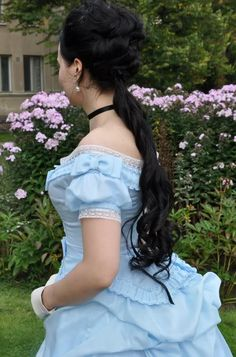 The ball gown bodice was also made using the same 1870-71 dress pattern from Patterns of Fashion. I altered only the size. It's lined with c...