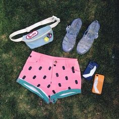 Jackie with the Lazy Oaf Watermelon Denim Shorts || Get the shorts: http://www.nastygal.com/lookbooks/watermelon-denim-shorts?utm_source=pinterest&utm_medium=smm&utm_term=ngdib&utm_content=show_off&utm_campaign=pinterest_nastygal