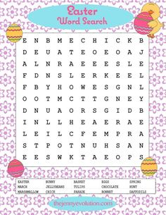 Easter Word Search - Free Printable!