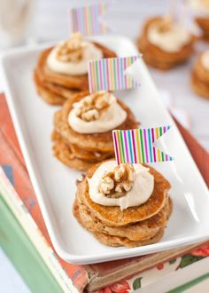 Mini Carrot Cake Pancake Stacks with Cream Cheese Frosting | Neighborfood