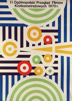 Drugi Przeglad Filmow Krotkometrazowych   Original Polish film festival poster designer: Maciej Zbikowski  year: 1970 size: A1