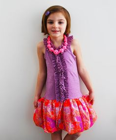 This Purple & Pink Luna Dress - Toddler & Girls by Sophie Catalou is perfect! #zulilyfinds