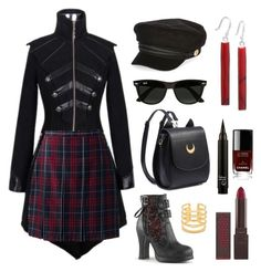 """outfit #1"" by jadelightbulb on Polyvore featuring Lands' End, River Island, Ray-Ban, Burt's Bees, Chanel and Stella & Dot"