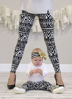 Darling baby/toddler and mommy leggings! Get matching pairs for mommy and me…