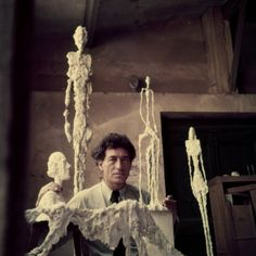 Portrait of Alberto Giacometti in His Studio by Gordon Parks