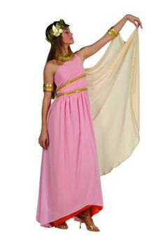 Fun World Divine Goddess Women/'s Adult Costume Greek Athena Aqua Gold Gown SM-LG