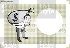 Greeting card with businessman with money – personalize your card with a custom text