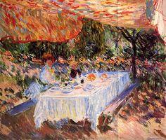 Luncheon under the Canopy / Claude Monet - 1883  - #art