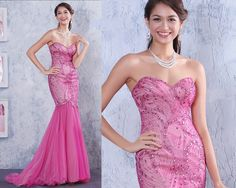 New Rhinestone Beaded Mermaid Cocktail Evening Dress Formal Party Prom Gown Hot #sunvary #Mermaid #Formal