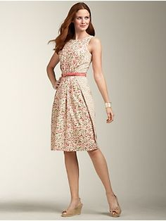 I would wear this  rose-print dress  about once a week.