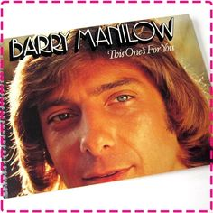 BARRY MANILOW This One's For You - Recycled / Upcycled Retro Record Album Cover Journal Notebook - Eco-Friendly - Vintage Circa 1976 on Etsy, $12.95