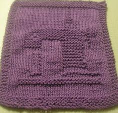 frogiez place...: Sewing machine dishcloth pattern