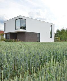 Less is more: compact én ruim • Architect: www.stevenalice.be (nieuwbouw • modern • gevelpleister • hoekraam)
