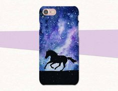 Space Horse Phone Case | iPhone |Galaxy | LG | Pixel | Atlantek Designs on Etsy | Designed by Purple Horse Designs | atlantekdesigns.etsy.com