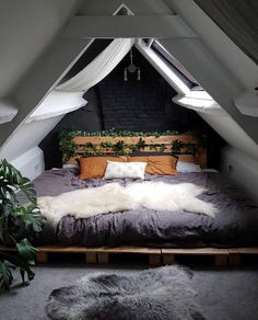 """HOME Keeping it Neutral - """"Attic Bed"""" by Saralouisa Take Smart Steps When Remodeling Your Home Every Bohemian Bedroom Decor, Home Decor Bedroom, Bedroom Setup, Bedroom Ideas, Design Bedroom, Attic Bedroom Designs, Bedroom Interiors, Bedroom Curtains, Bedroom Decor"""