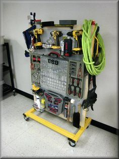 How To Buiild Rolling Pegboard Storage For Tools Cart