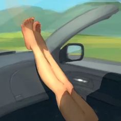 People liked this one so much I thought I'd post a time lapse of the painting process #la #legs #barefoot #roadtrip #road #art #love #painting #draw #drawing #artist #instaart #sketch #sketchbook #procreateapp #digitalart