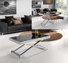 Mesa de centro autom tica elevable y extensible mesa de for Mesa comedor transformable