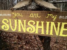 You Are My Sunshine  Reclaimed Wood Sign  by SimplySophiaMaria, $25.00