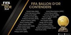 Ballon d´Or -ehdokkaat on julkaistu – Katso lista  http://puoliaika.com/?p=12717 ( #ballon d´or 2014 #ballon d´or 2015 #kultainen pallo 2014 #shortlist ballon d´or 2014)