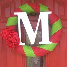 Christmas burlap wreath :)