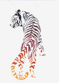 Love this tiger tat idea, but I'd choose black instead of the colour ⚫️