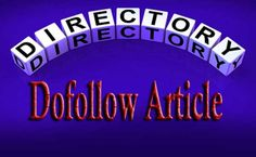 List of Top 20 High PR DoFollow Article Directory Sites #Dofollow_Article_Directory
