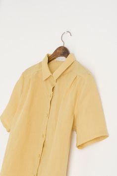 Short Sleeve Simple Linen Shirt
