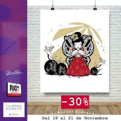 A partir de HOY hasta el 21 de Noviembre #BuenFin en mi tienda en línea. Pasen a echar ojazo!  #drawing #illustration #celenenajera
