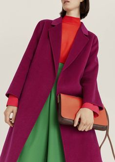 John Lewis is relaunching its own-brand collection for autumn/winter 2018 - and it's staking its claim on saturated bolts of colour. Read the Vogue verdict here Colour Blocking Fashion, Color Blocking Outfits, Fashion Colours, Colorful Fashion, Colourful Outfits, Cool Outfits, Fashion Outfits, Womens Fashion, John Lewis Fashion