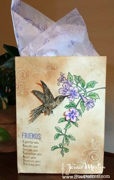 Stamp This! - Bagalope made with #Stampendous stamps and matching dies. By Jamie Martin. #cre8time
